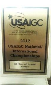 IGC Bronze 2012 1st Place AA Champion Jordana Albanese