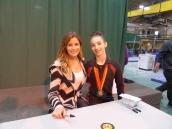 Jordana Albanese with Alicia Sacramone - ALBANY 2014